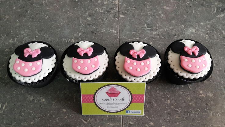 Minnie Mouse cupcakes  #minniemouse #cupcakes #SweetFionah