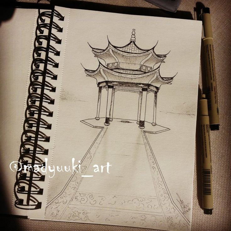 chinese architecture by @madyuuki_art https://instagram.com/madyuuki_art/ http://yuki-chan-xdxd.deviantart.com/art/castle-551372137