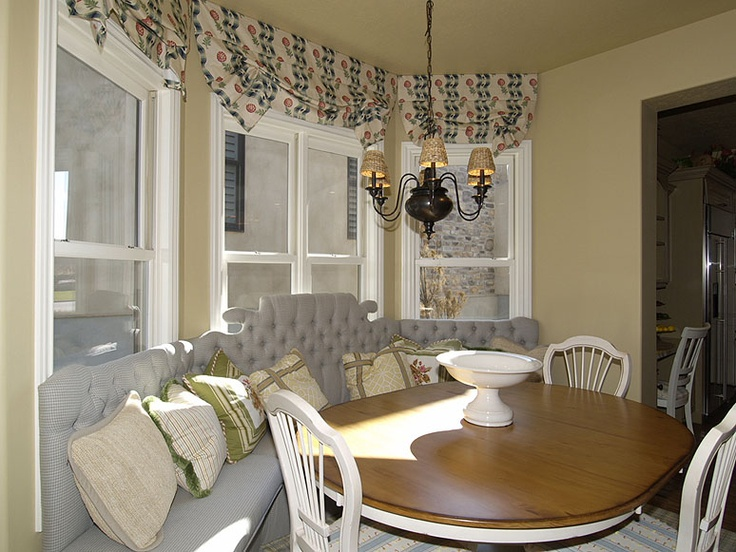 Bay Window Eating Nook Curtains For The Home