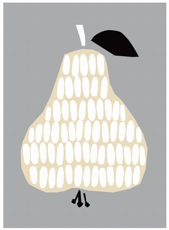 #pear #poster by Darling Clementine from www.kidsdinge.com