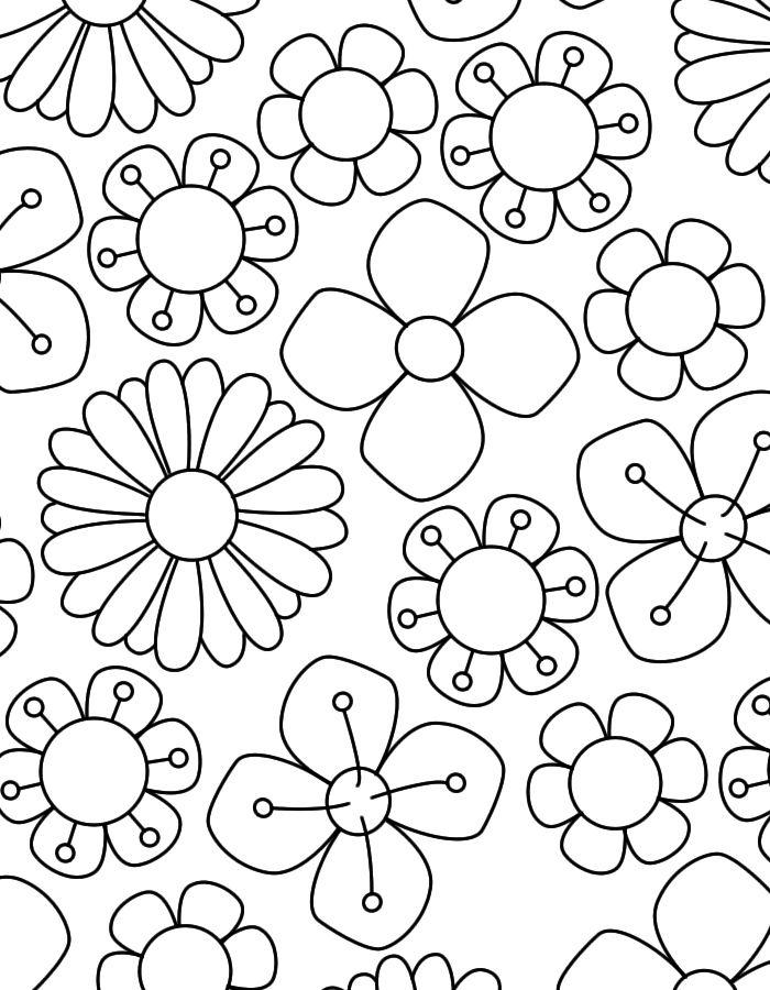 kleurplaten lente bloemen soort 194 beste afbeeldingen