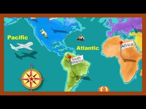 "Cute Video- used to introduce continents and oceans in my second grade class ""Continents and Oceans"" by http://ABCmouse.com - YouTube"