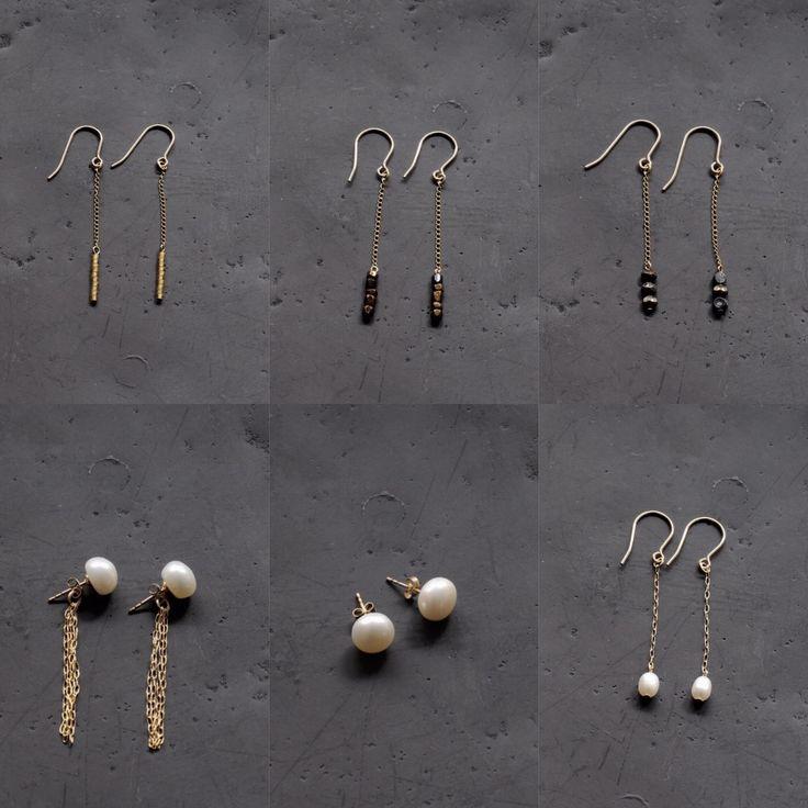 FLEURI (フルリ)  14kgf 淡水パール ピアス アンティークビーズ anteque beads