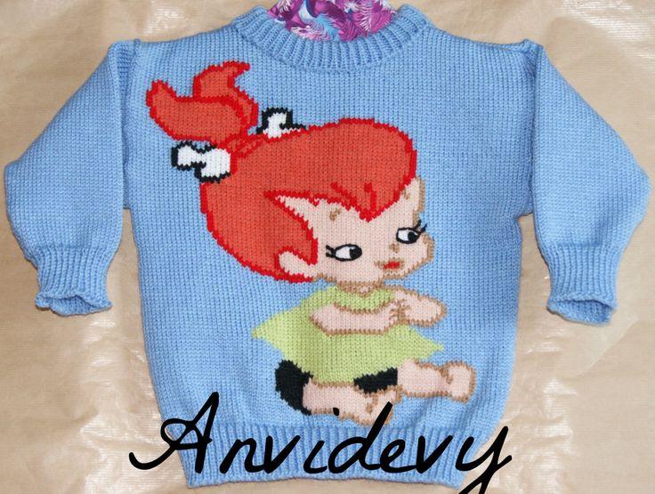 Pull fille, 2 ans, petite fille de la préhistoire de la boutique Anvidevy sur Etsy