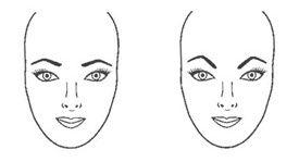 Negra Stylish: A formula para ter a sobrancelha certa para o seu rosto. Rosto Oval - O rosto oval oferece uma certa flexibilidade, já que existem vários tipos de sobrancelhas que ficam boas. Evite as fortemente arqueadas como as da segunda figura e opte por levemente arqueadas, como as da figura.