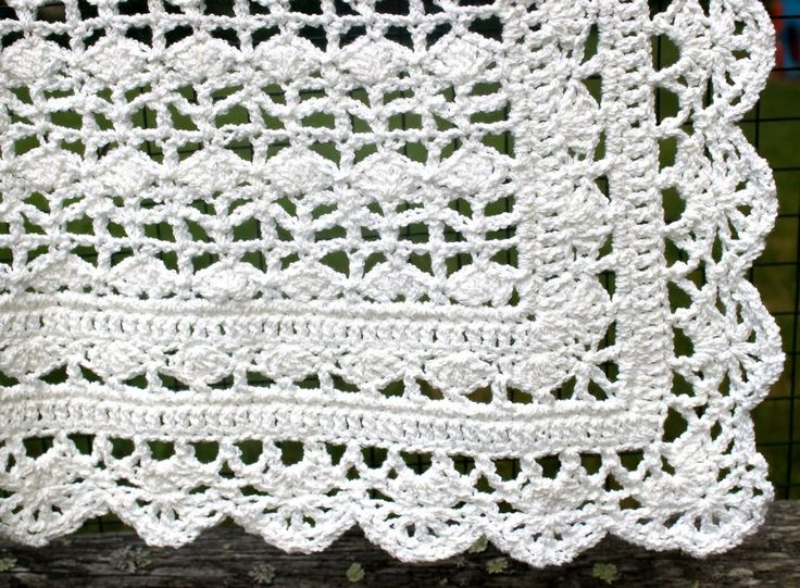 Crocheted Baby Blanket - Heirloom lace from Best of Terry ...