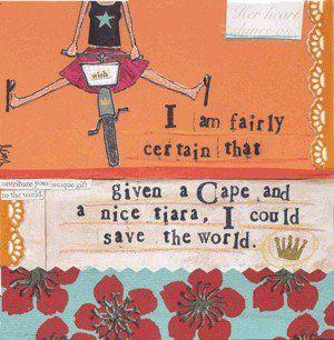Tiara, vintage bicycle, flip flops . . , Love it