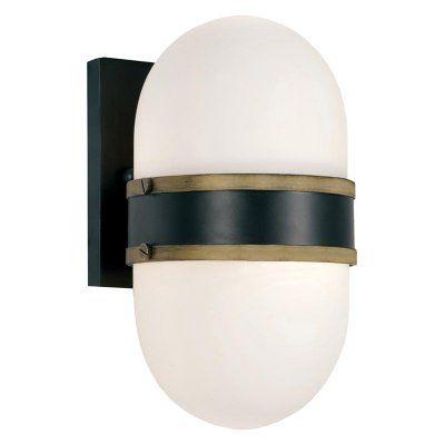 Brian Patrick Flynn for Crystorama Capsule Outdoor Wall Mount Light - CAP-8501-MK-TG