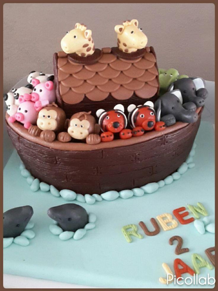 Ark van Noach taart..gemaakt Door henrieke