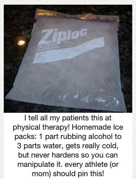 Home made ice pack that's not to hard for the little ones