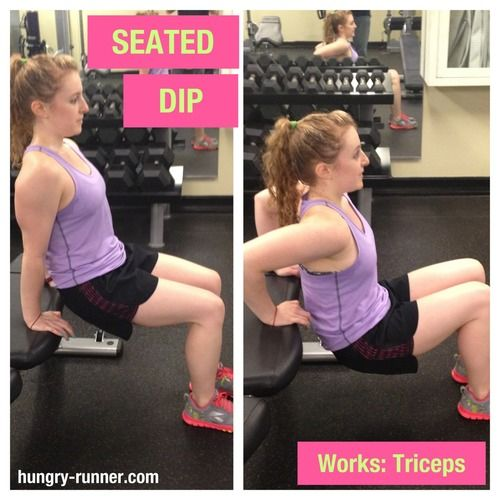 Try this #exercise : Seated Dips!