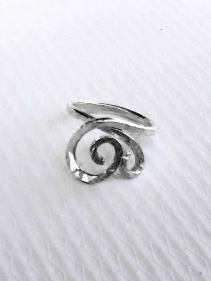 Flower Heart Silver Ring,Love Midi Ring,Knuckle Ring,Silver Ring,Greek Silver Ring,Love Ring,Hammered Texture,Gift for Her,Christmas Gift by profoundgarden on Etsy