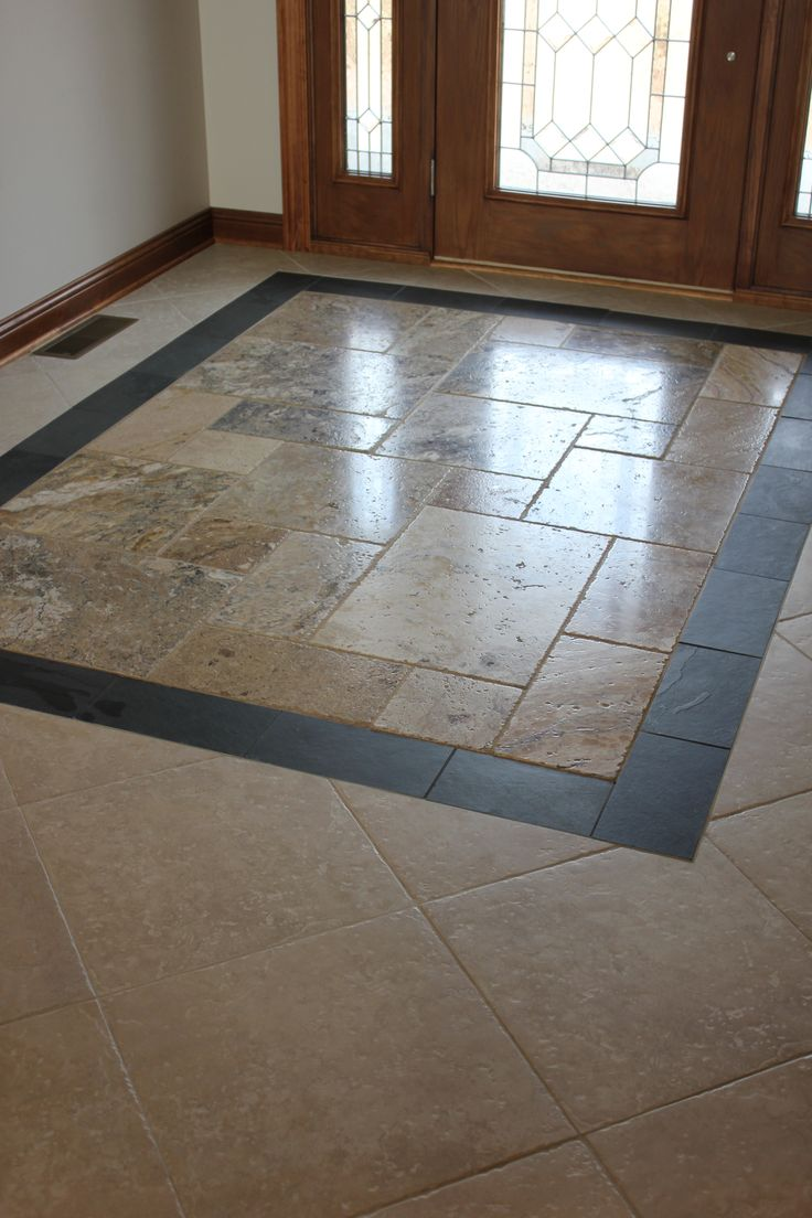 Custom entryway tile design kitchen design pinterest entryway design and tile - Small kitchen floor tile ideas ...