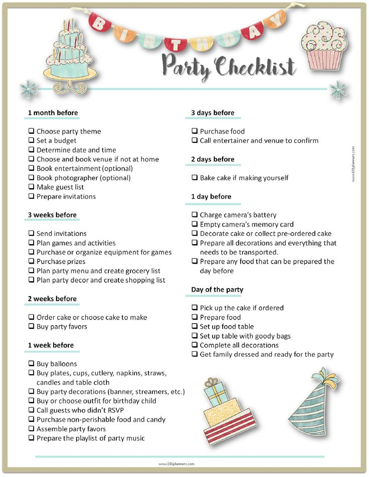 Free printable party planning template to ensure that you don't forget anything when planning the perfect birthday party. Free instant download!