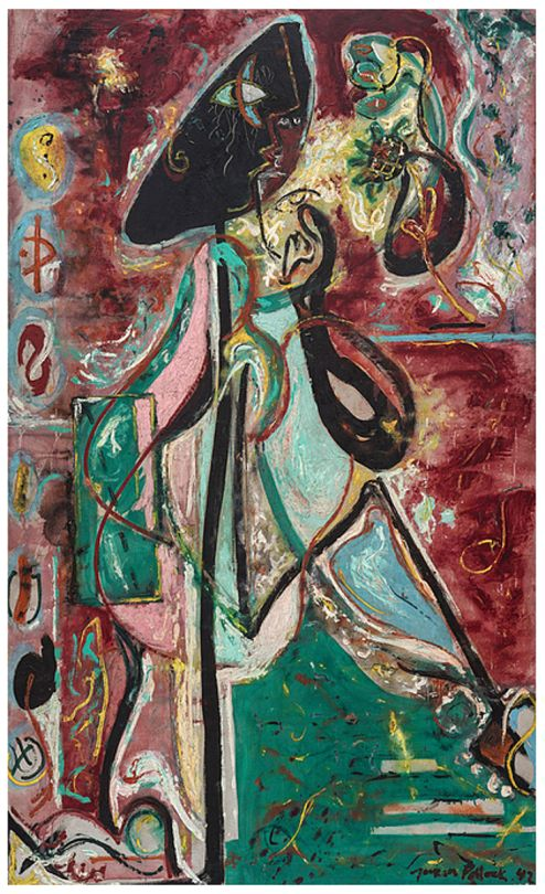 jackson pollock- the moon woman 1942