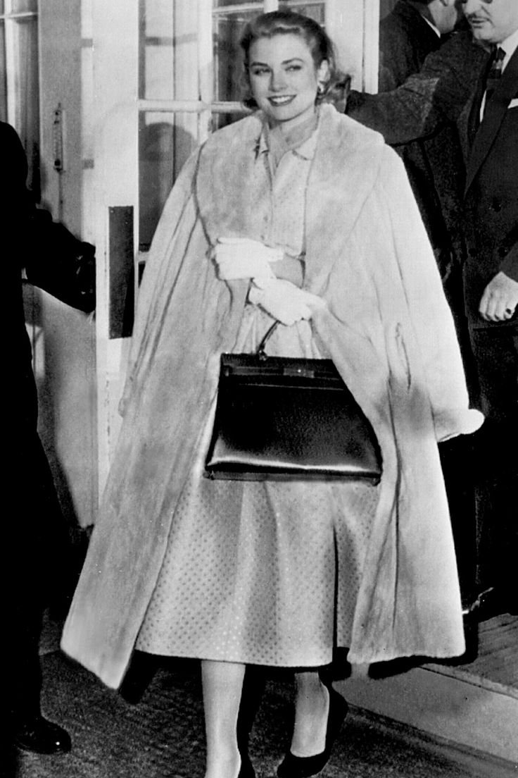 "Grace Kelly with the Hermes ""Kelly"" handbag, 1956"