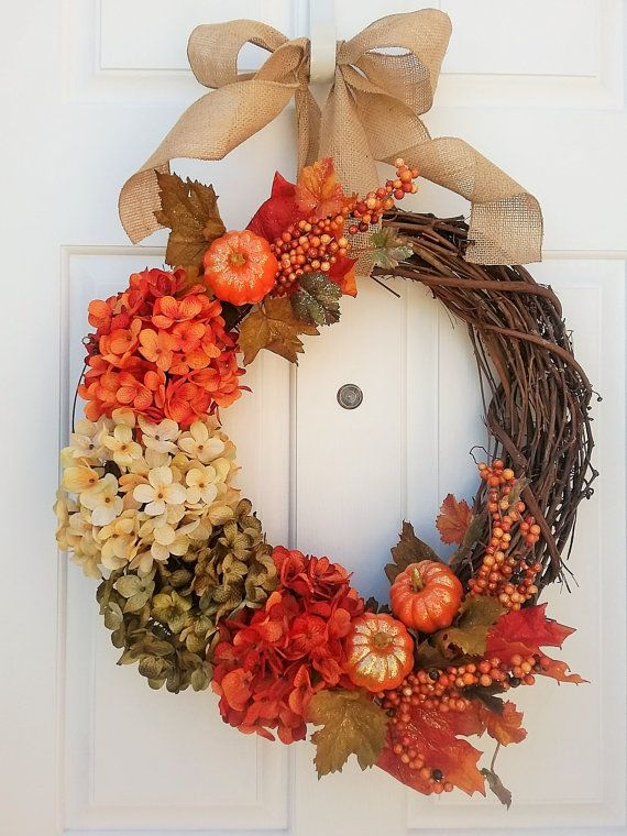 Fall Wreath Wreaths Home Decor By CountryHomeandHeart