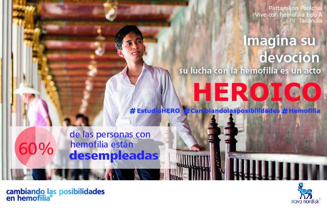 Los pacientes que viven con #Hemofilia luchan día a día con su condición, conseguir un trabajo para salir adelante es su impulso.  Su lucha con la #Hemofilia es algo heroico. El #EstudioHERO muestra cómo influye la #Hemofilia en la vida de los pacientes.  #CuidaTuHemofilia