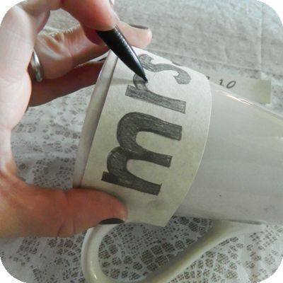 Drawing On Ceramic (How to Transfer Lettering) uses Oil Based Sharpies!  Trying this one out soon!