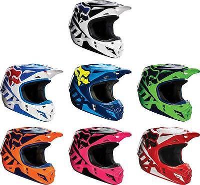 2016 Fox Racing V1 Race Motocross Dirtbike MX ATV ECE DOT Mens Womens Helmet