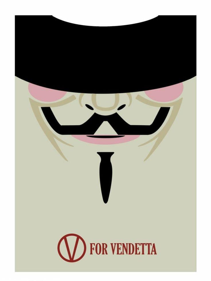 V for Vendetta (2005) ~ Minimal Movie Poster by David Peacock