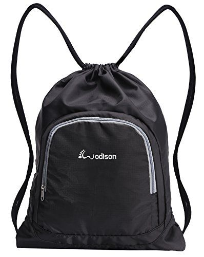 WODISON Basic Waterproof Sports Gym Sackpack Bag Lightweight Drawstring Backpack