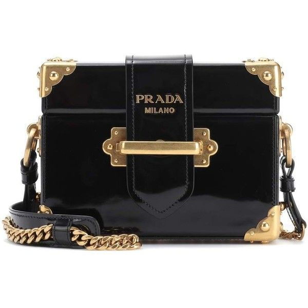 c2c90a449540 Prada Cahier Patent Leather Shoulder Bag ($3,405) ❤ liked on Polyvore  featuring bags,