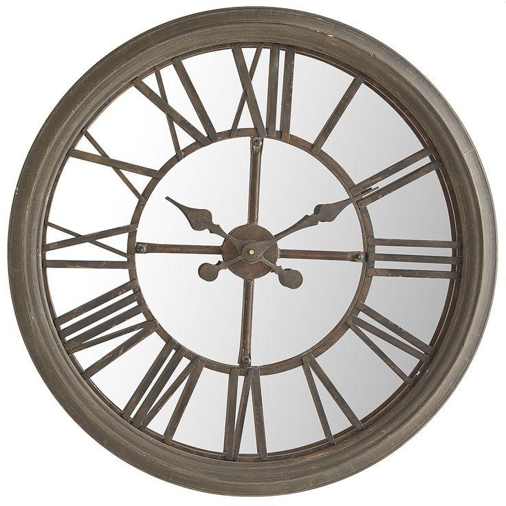 Rustic Mirrored Wall Clock Clocks Gt Wall Clocks