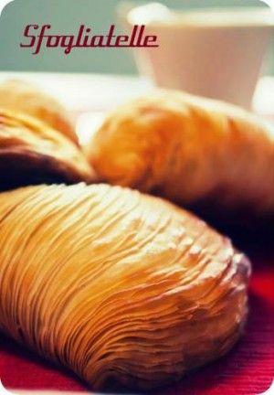 sfogliatelle ricce. Recipe from Gourmet