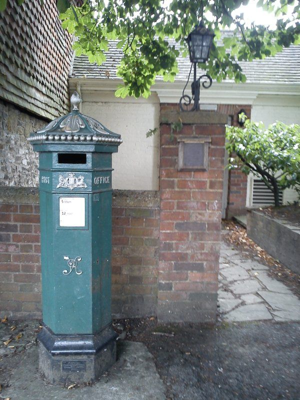 A Victorian post-box in Haslemere, England