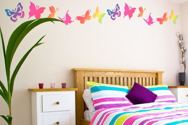 wall decoration ideas bedroom the wall butterflies and love - Wall Decor Ideas For Bedroom