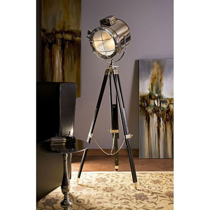 Hollywood Spotlight Studio Tripot Tall Floor Lamp   Industrial Modern Home  Collection   Dot U0026 Bo