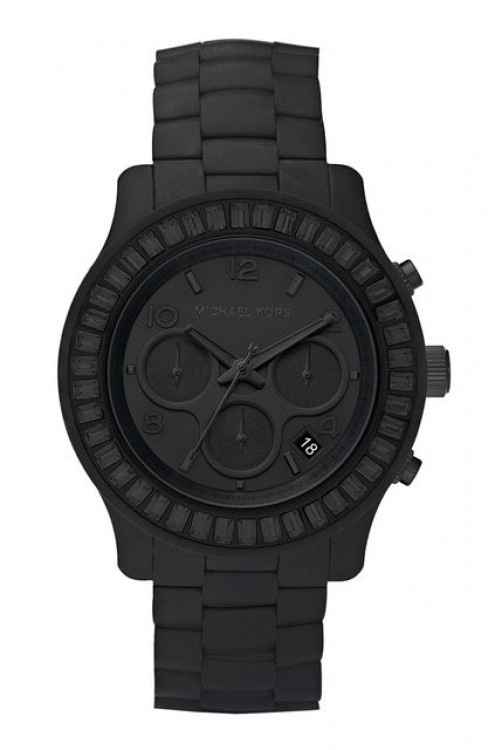 Michael Kors flat black watch-I must have this!!!!!!! Christmas Momma????