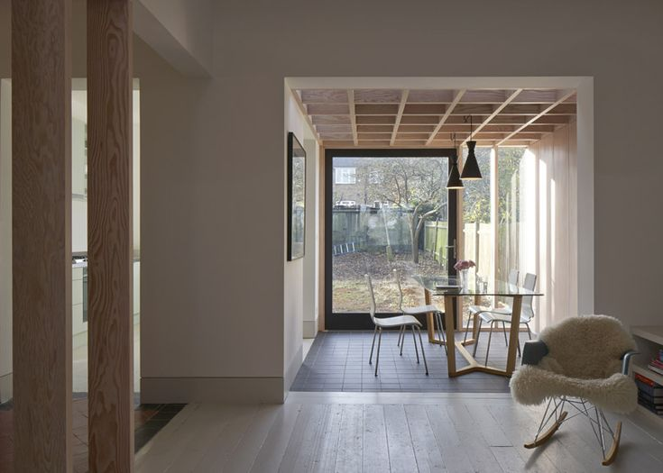 Wooden ceiling added to London extension by Jonathan Tuckey Design