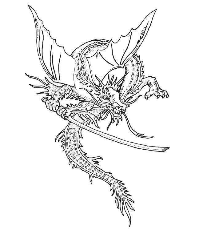 realistic dragon coloring pages dragon coloring page perched dragon