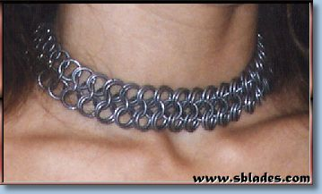 Chainmail & More Wayfarer chain-maille choker, Handcrafted chainmail necklace jewelry