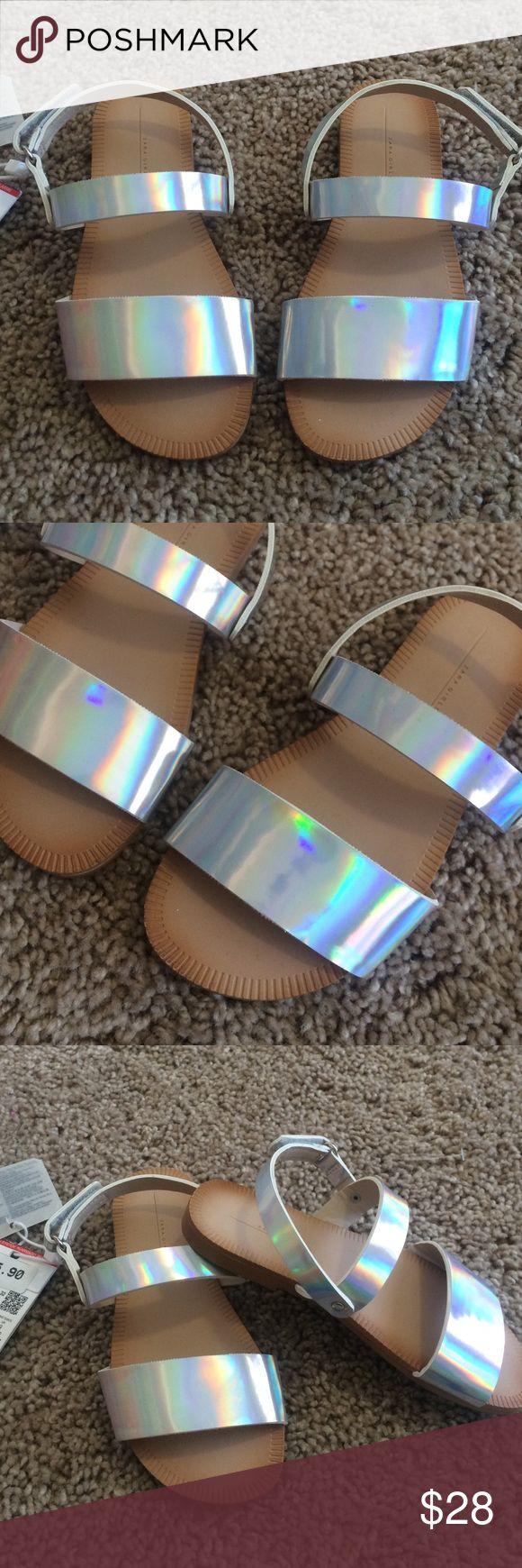 Zara girl metallic sandals. Size 26 NWT Zara metallic sandals. Size 26 may for a size 8 1/2-9 in toddler girls. Zara Shoes Sandals & Flip Flops