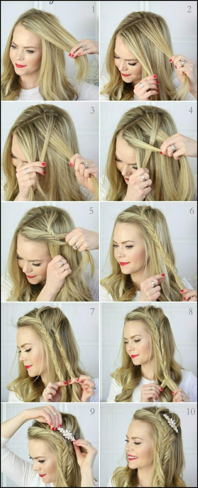 Oktoberfest Frisuren Zum Dirndl 27 Anleitungen Einfache Frisuren Hair Styles Long Hair Styles Fish Tail Braid
