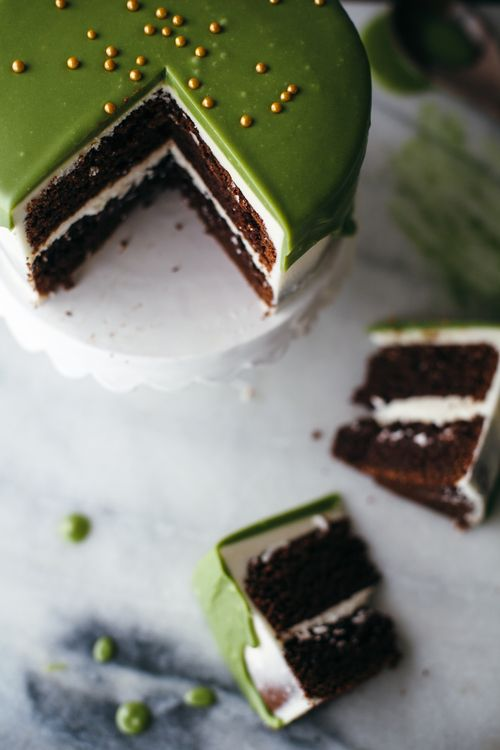 Matcha white chocolate ganache recipe.