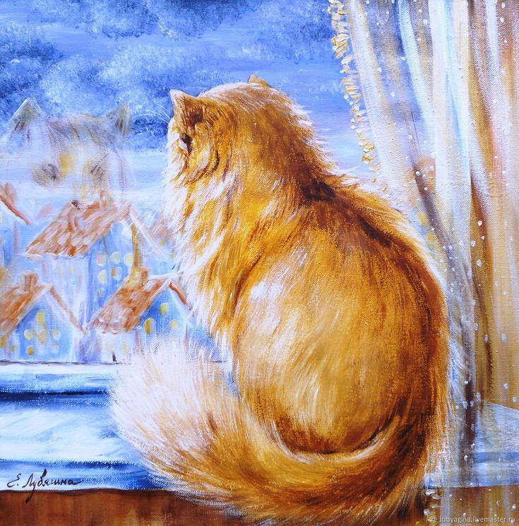 светодиод ручку рисование коты елена лубягина подголовник