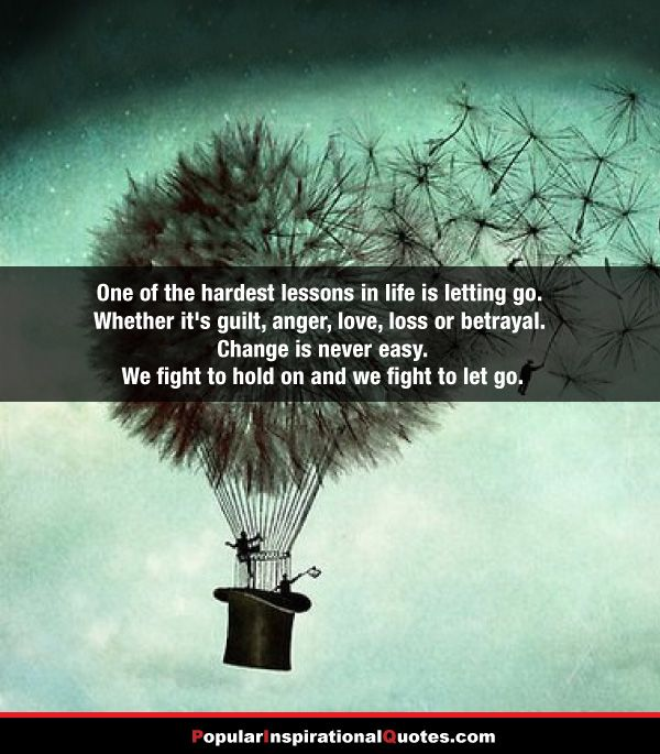 Quotes About Moving On And Letting Go: Letting Go In Life Quote