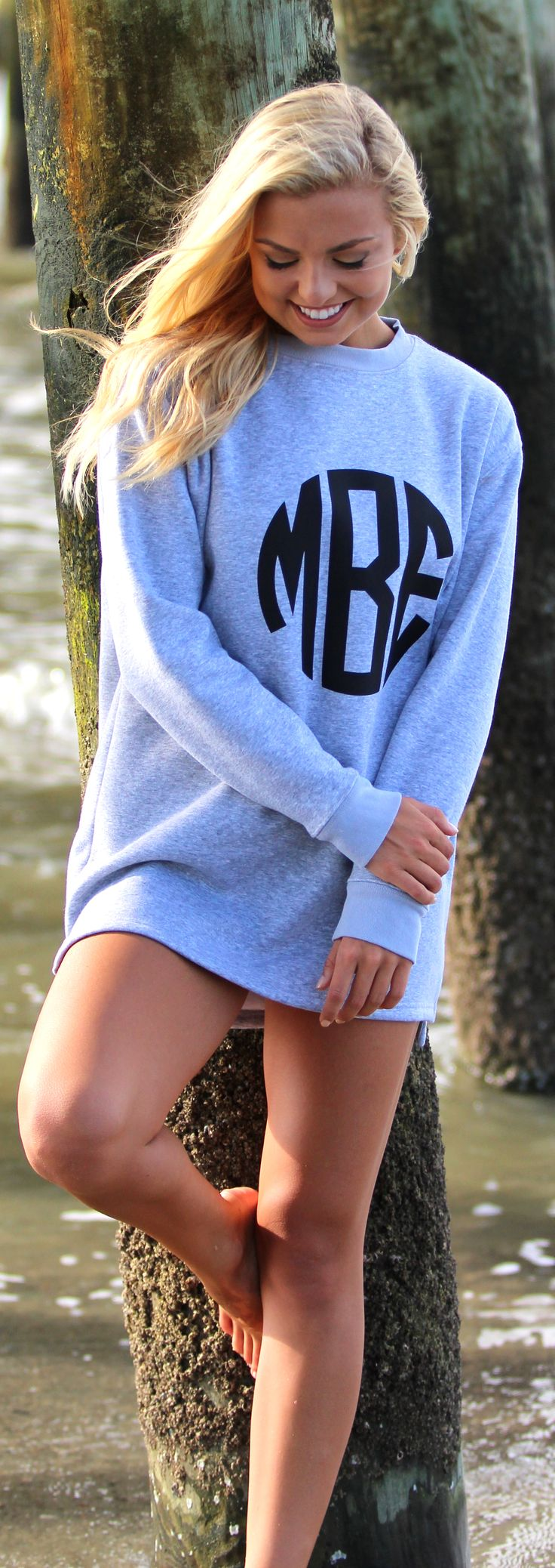 Windy days at the beach are even better in a comfy Monogrammed Sweatshirt! Shop now!
