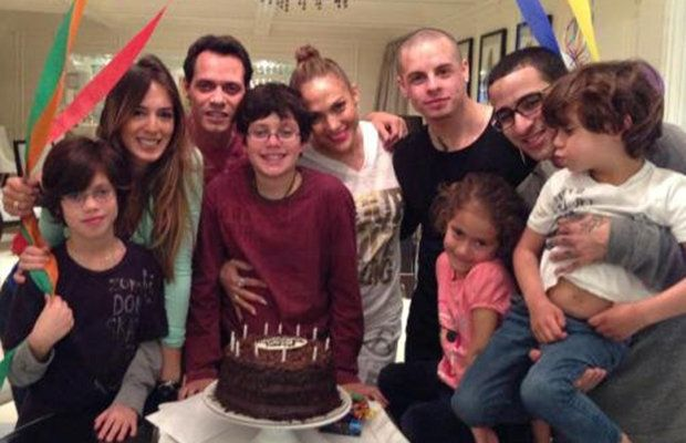 Jennifer Lopez and Casper Smart Join Marc Anthony for Son's Birthday Party, There doesn't appear to be any bad blood in J.Lo's and Marc Anthony's blended family! Jennifer Lopez reunited with ex-husband Marc Anthony Wednesday night to help celebrate his son (with ex-wife Dayanara Torres) Cristian's birthday, and Anthony even tweeted a pic to share the fun with the world. Joining the festivities were J.Lo's boyfriend Casper Smart and Anthony's possibly on-again girlfriend Shannon de Lima.