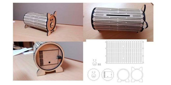 Piggy Bank For Laser Cutting Dxf Cnc Files Free To