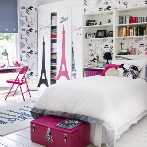 cool-rooms-for-teenagers-40Girls Room, Paris Theme, Room Ideas, Paris Room, Dreams Room, Teen Bedroom, Bedrooms Ideas, Paris Bedrooms, Teen Room