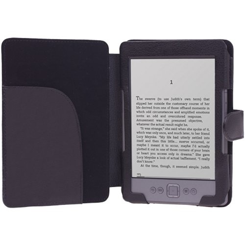 """CE Compass(TM) PU Leather Case Cover for Latest Generation Amazon Kindle 4 Wi-Fi 6"""" E Ink Display (4th Generation 6"""" Kindle Wi-Fi w/o Keyboard, NON TOUCH Version) Black"""