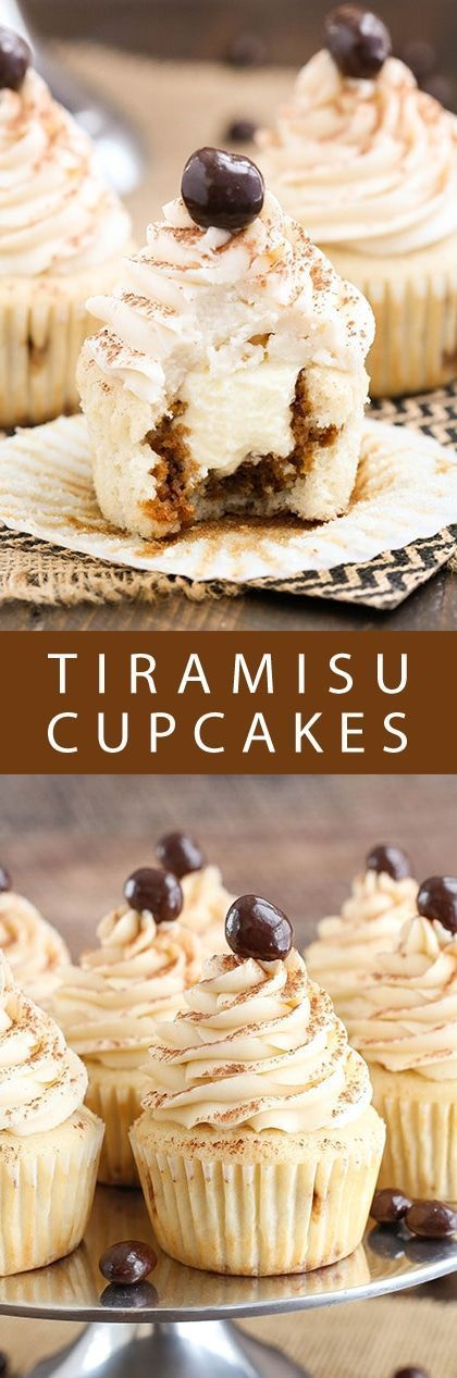 Tiramisu Cupcakes! So moist and just like eating individual tiramisu! Easy recipe for homemade from scratch deliciousness!