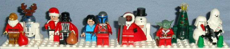 Various Lego Star Wars Christmas Figures from Lego Advent Calendars