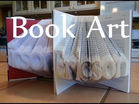 How to Fold Book pages into Letters - Recycled Book Art Ideas