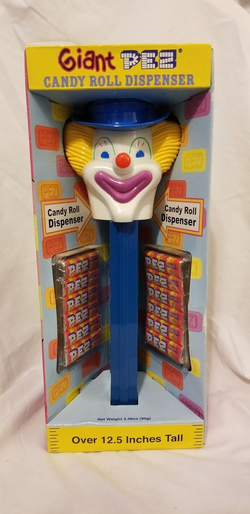 Blue Clown Giant Pez Candy Roll Dispenser Over 12.5 Inches Tall | Collectibles, Pez, Keychains, Promo Glasses, Pez | eBay!
